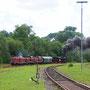 Ausfahrt Gerolstein auf Höhe des Bahnbetriebswerks
