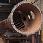 Der Dampferzeuger von 52 6106 in der Kesselwerkstatt