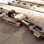 Als einzige Bauteile verblieben die beiden Treibstangen der Lok noch zur Überarbeitung der Lagerschalen in Krefeld I