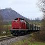 In Richtung Nürtingen führt eine Lok der Baureihe 213 - Foto: Jens Peter Schmidt
