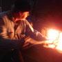 Feuerbeschickung auf der Rampenfahrt