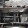 Blick auf den Platz des Aschkastens zwischen Rahmen und Fahrwerk