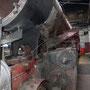 Blick auf die Ausströmrohre der Zylinder unter der Rauchkammer - Foto: Norbert Rademacher II
