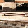 Als einzige Bauteile verblieben die beiden Treibstangen der Lok noch zur Überarbeitung der Lagerschalen in Krefeld II