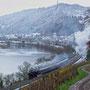 Von Trier Hbf kommend ist 52 6106 mit dem ersten Zug auf der Trierer Weststrecke in Richtung Schweich unterwegs - Foto: Achim Müller