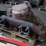 Sowohl der Dampfsammelkasten als auch das Reglerknierohr wurden überholt und warten auf den Wiedereinbau