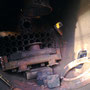 Blick in die Rauchkammer mit demontiertem Dampfsammelkasten