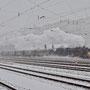 Einfahrt Esslingen im Schneetreiben - Foto: Andreas Axmann
