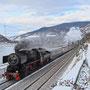 Winterdampf am Rhein bei Assmannshausen, in wenigen Kilometern hat der Zug sein Ziel erreicht - Foto: Kai Hesse