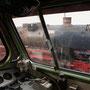 Blick von der V100 hinüber zur Dampflok II