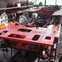 Blick auf den fertiggestellten Führerhausboden der 52 6106