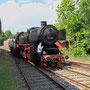 Umsetzen der Lok nach der Ankunft in Mettingen - Foto: Marcin Zaleski I