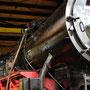 Am 25.04.2008 wird der Kessel für das erste Anheizen mit Wasser befüllt