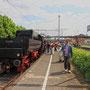 Nach der Drehfahrt steht die Lok Tender voraus abfahrbereit in Richtung Mettingen - Foto: Marcin Zaleski