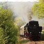 Der letzte Zug auf dem Weg nach Kall, zwischen Gemünd und Anstois