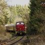 Die morgendliche Überführung des Zuges im Wald bei Betteldorf