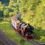 Wenig später rollt der Zug ohne Mühe bei Pelm zu Tal