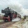 Mit dem Leerreisezug ist die Lok gegen Mittag bei Bad Rappenau unterwegs - Foto: Steffen Reiser