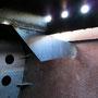 Fertig ausgebesserte Schwallbleche des Tenders vor der Beschichtung II