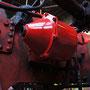Einer der beiden überarbeiteten und neu lackierten Bremszylinder