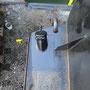 Neu angebrachte Tenderöffnung für die Zugabe von Wasserenthärtungsmitteln