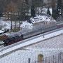 Blick auf den Zug aus den Weinbergen bei Kanzem - Foto: Achim Müller