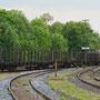 V 100 2299 rangiert den Zug für die Lastprobefahrt in den Bw-Bereich