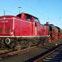 Nach der Übernachtung in Neuss startet der Überführungszug am Sonntagmorgen im dortigen Güterbahnof zur Weiterfahrt in Richtung Köln