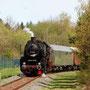 Einfahrt des Zuges in den Haltepunkt Laubach-Müllenbach