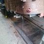 Blick auf den Stehkesselbodenring mit verschlossener Waschluke vor der Druckprobe - Foto: EWK