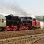 Diesel vor Dampf, ein Bild fast wie zum Ende der Dampfzeit bei der Deutschen Bundesbahn