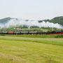 Panoramablick auf den stilreinen Zug bei Rockeskyll - Foto: Jörg Petry