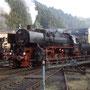 Hochbetrieb nach der Ankunft im Bw Gerolstein - Foto: W. Brutzer
