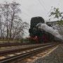 Von Neuwied kommend hat der Zug soeben bei Urmitz den Rhein überquert - Foto: Heinz-Jörg Wurzbacher
