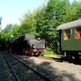 52 8095 macht am 14.06.2005 mit dem Interieur-Express Station im ehemaligen Aw Braunschweig - Foto: Marc Lewandowski X