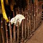 Entsorgte Teile der Feuerbüchsdecke mit Stehbolzen I