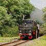 Auf dem Weg zurück nach Gerolstein durchfährt der Zug Utzerath