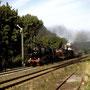 52 8095 führt am 07.09.1999 in Satzvey den Überführungszug zum Eifelplandampf nach Gerolstein an - Foto: W. Brutzer
