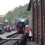 Nach der Ankunft am Museumsbahnsteig, verabschiedet sich die Lok in den Feierabend - Foto: Heinz Andresen I