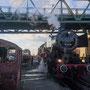 Morgendliche Vorbereitungen zur Überführung der Zuggarnitur nach Stuttgart