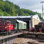 Bereitstellung des Lokbegleitwagens für die anstehende Werkstattfahrt