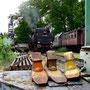 52 8095 macht am 14.06.2005 mit dem Interieur-Express Station im ehemaligen Aw Braunschweig - Foto: Marc Lewandowski IV