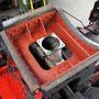 Überarbeiteter Rauchkammersattel mit montiertem Hosenrohr