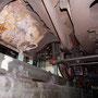 Deutliche Betriebsspuren an den beiden Dampfzylindern - Foto: Norbert Rademacher II