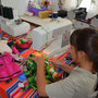 Rebecca makes a new Nala dress, Masvingo, Zimbabwe