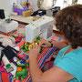 Odette makes a new Nala dress, Masvingo, Zimbabwe