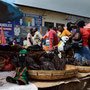 NALA at the crowdy Fishmarket at the City Market in Lusaka, Zambia