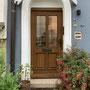 Die Haustür vor der Sanierung