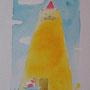湘南猫美術館「猫の家」の依頼で描きました。 水彩 個人蔵