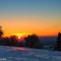 Sonnenuntergang auf dem Vulkan - Januar 2017